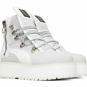 Puma Fenty White Platform Sneakers